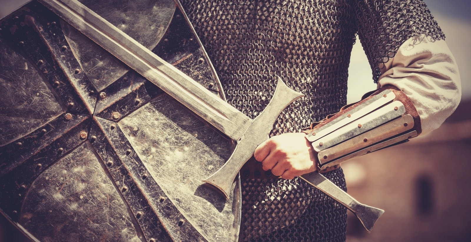 Dawn your armor, raise your shield, unsheathe your sword as a knight in defense of Christ
