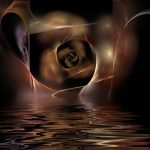 A Holy Lover ignites passion and splendor in his marriage; in his Beloved (a brown abstract rose with ripples of waves)